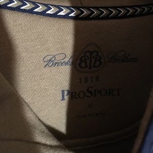 Brooks Brothers Shirts - Brooks Brother Sweatshirt Hoodie Tan Blue Medium